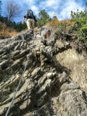 Kraxelei in der Felswand