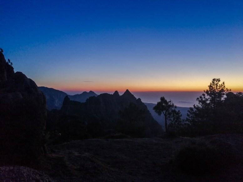 Sonnenaufgang am Refuge de Paliri