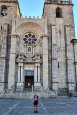 Start vor der Kathedrale von Porto