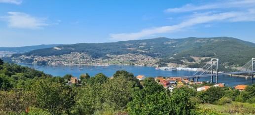 Blick auf Vigo und Ria de Vigo