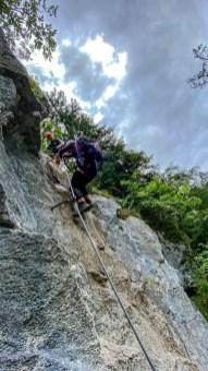 Im Klettersteig Weiße Gams