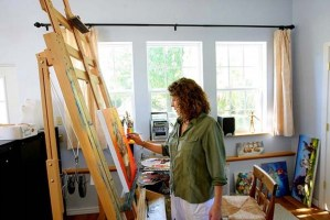 Conni Togel in the old Sheep Incognito studio