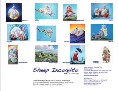 Thumbnail Page, back of 2019 Sheep Incognito Calendar
