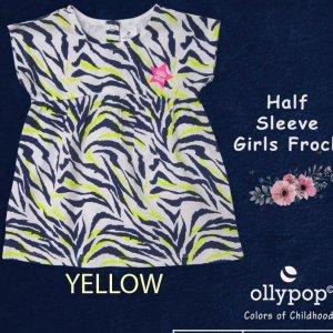 Ollypop Half Sleeves Girls Frock