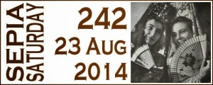 Sepia Saturday 242: Fans, Faces, National Costumes, Hidden Meanings (5/5)