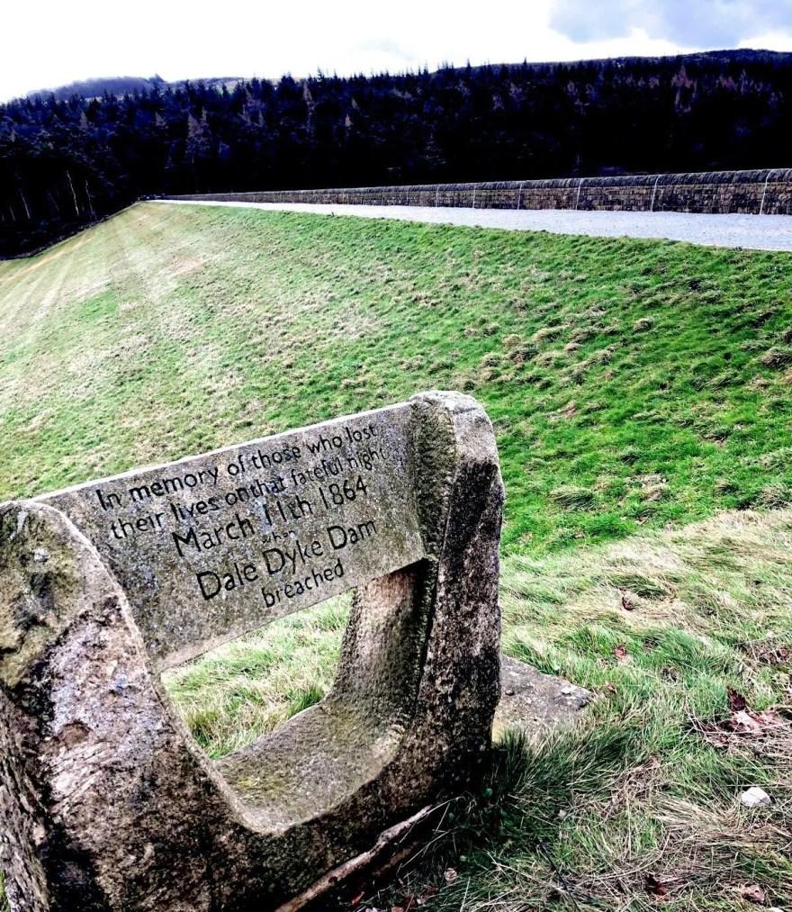 Dale Dyke Dam Sheffield Flood Memorial Marker