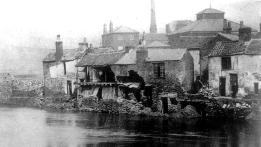 Industry beside Sheffield's river