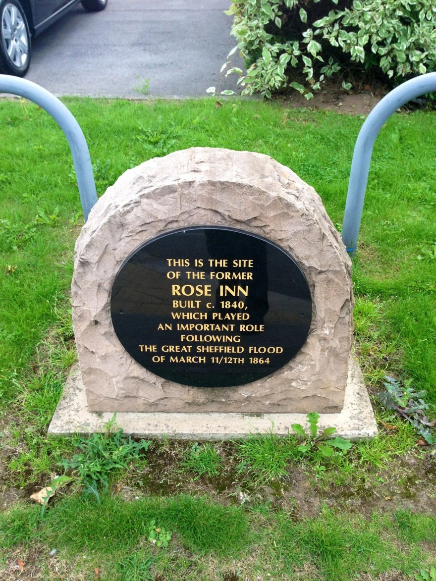 Memorial Stone at the site of the Rose Inn