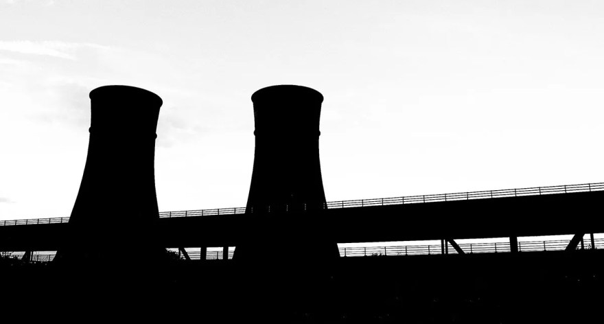 Silhouette of Tinsley Towers by the M1