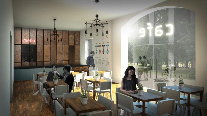 Plans for the Old Coach House Cafe in Hillsborough Park