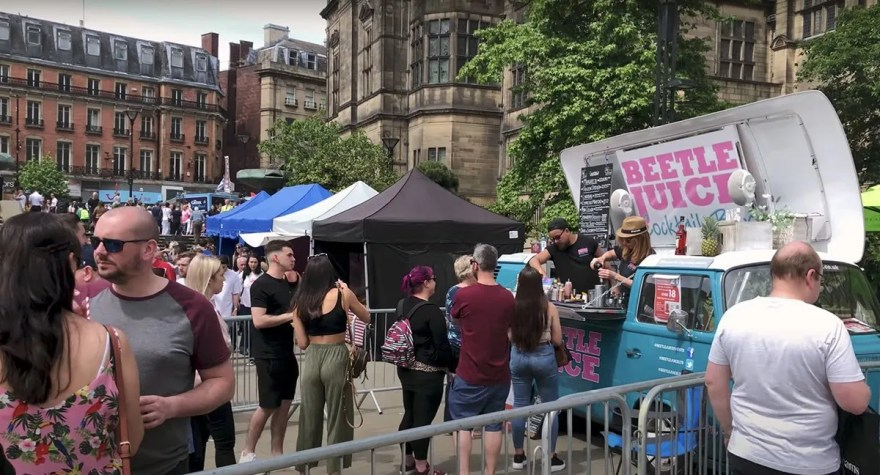 Beetle Juice drinks bar at Sheffield Food Festival