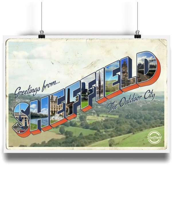 Greetings from Sheffield Art Print