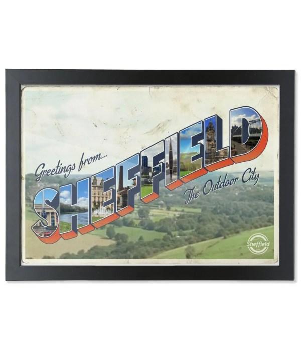 Greetings from Sheffield Framed Art Print