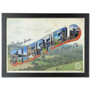 Greetings from Sheffield Framed Art Print