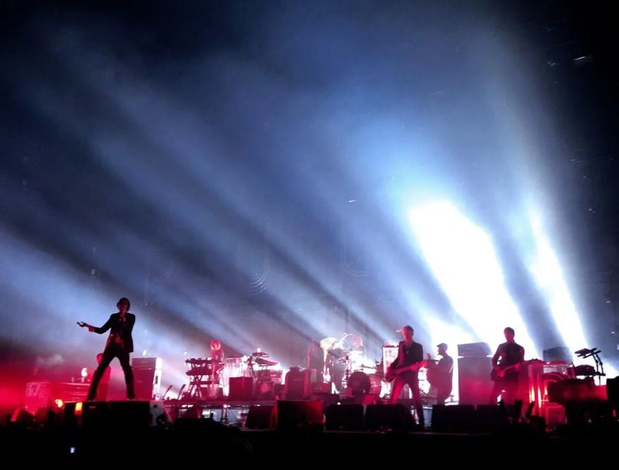 Sheffield band Pulp performing  at Sheffield Arena (8 December 2012)