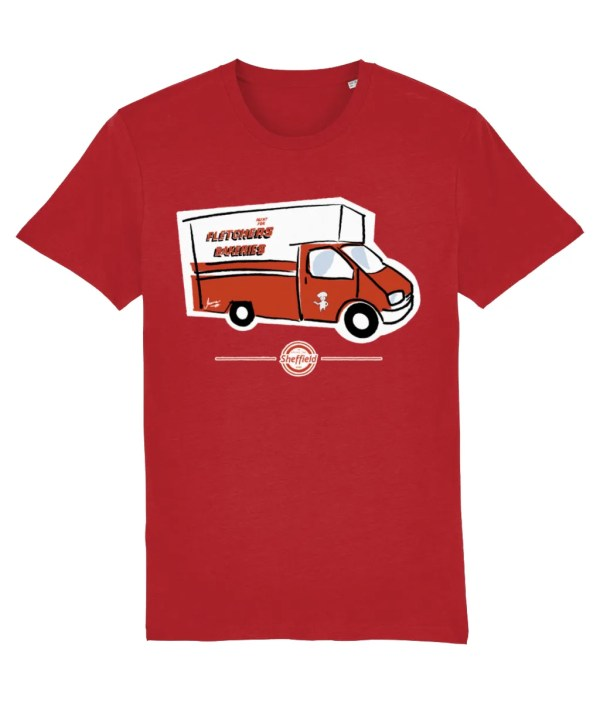 Fletchers Van Sheffield T-Shirt, Bright Red