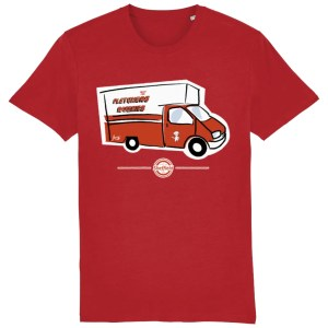 Fletchers Van Sheffield T-Shirt, Bright Red