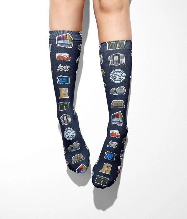 Sheffield Icons Tube Socks (One Size)