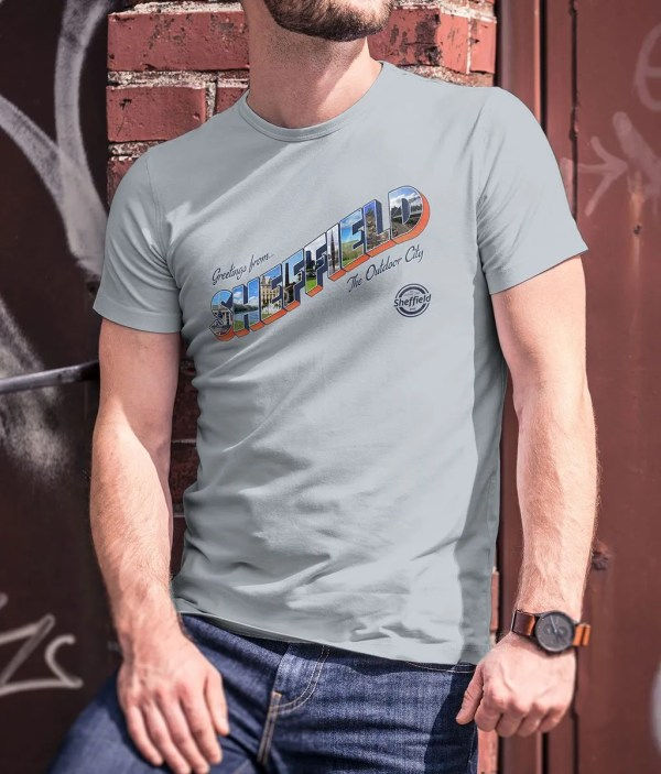 Sheffield: The Outdoor City T-Shirt (Heather Ice Blue)