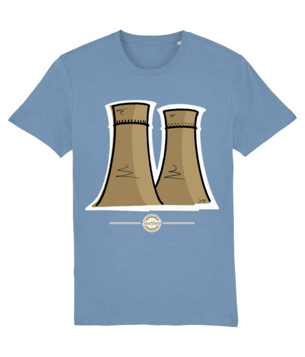 Tinsley Towers Sheffield T-Shirt, Sky Blue