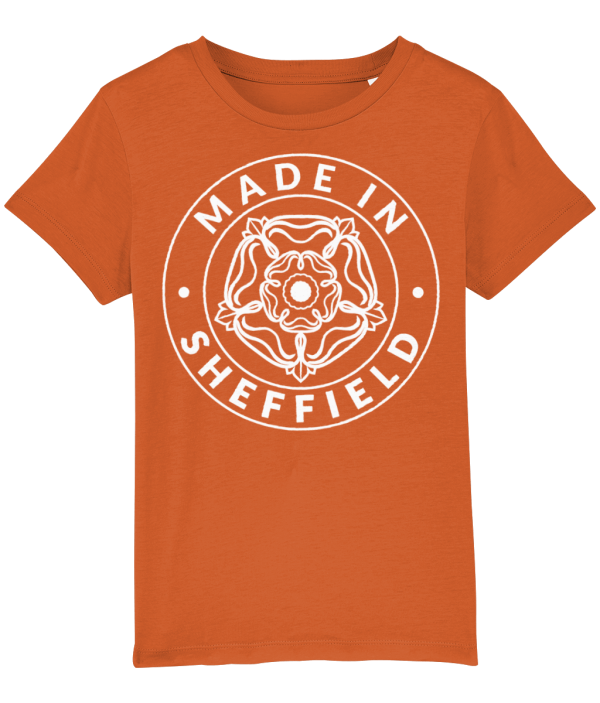 Made in Sheffield Kids T-Shirt, Bright Orange