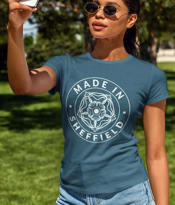 Made in Sheffield Women's T-Shirt, Ocean Depth