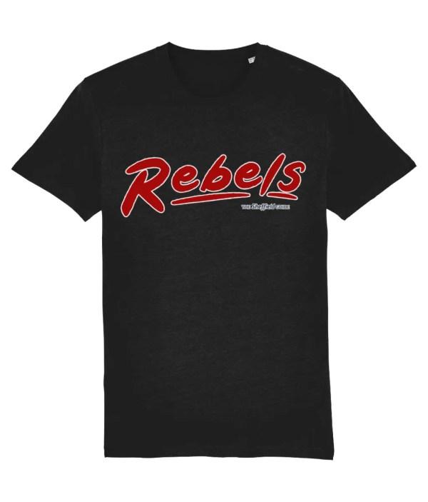 Rebels Rock Club Sheffield T-Shirt, Black