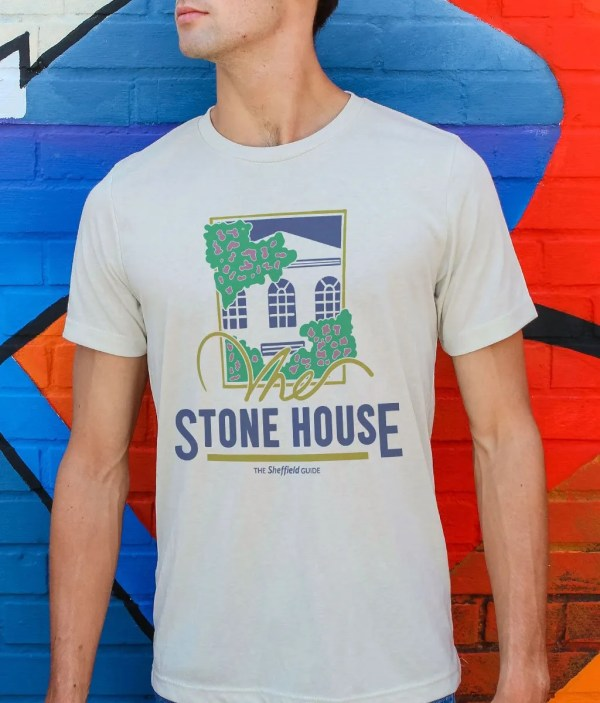 The Stone House Sheffield T-Shirt, Vintage White