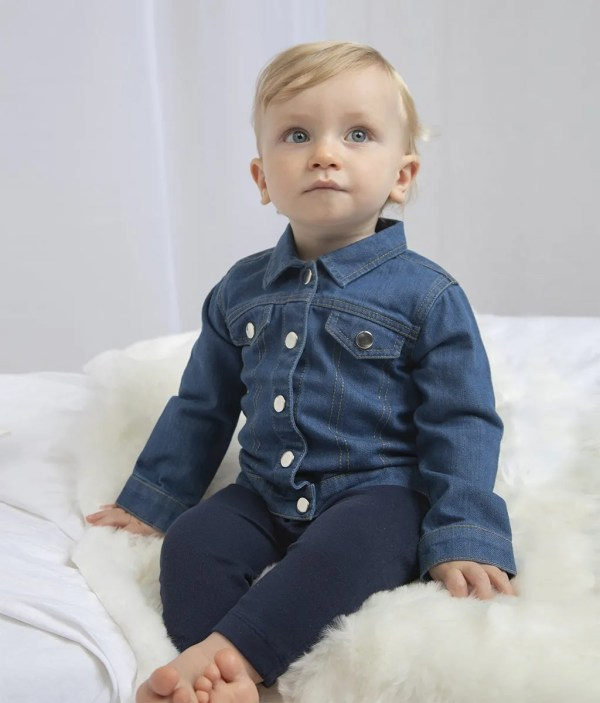 Made in Sheffield Embroidered Baby/Toddler Denim Jacket