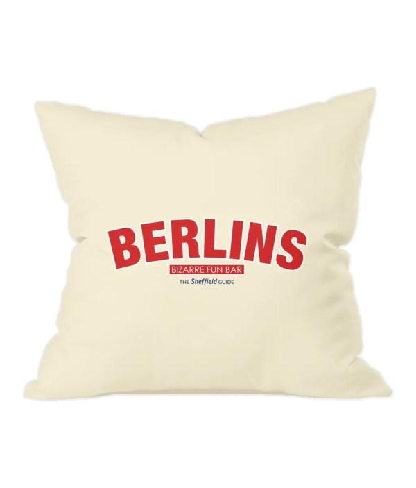 Berlins Bizarre Fun Bar Sheffield Natural Cushion