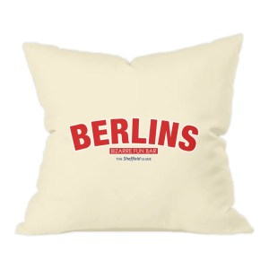 Berlins Bizarre Fun Bar Sheffield Natural Cushion