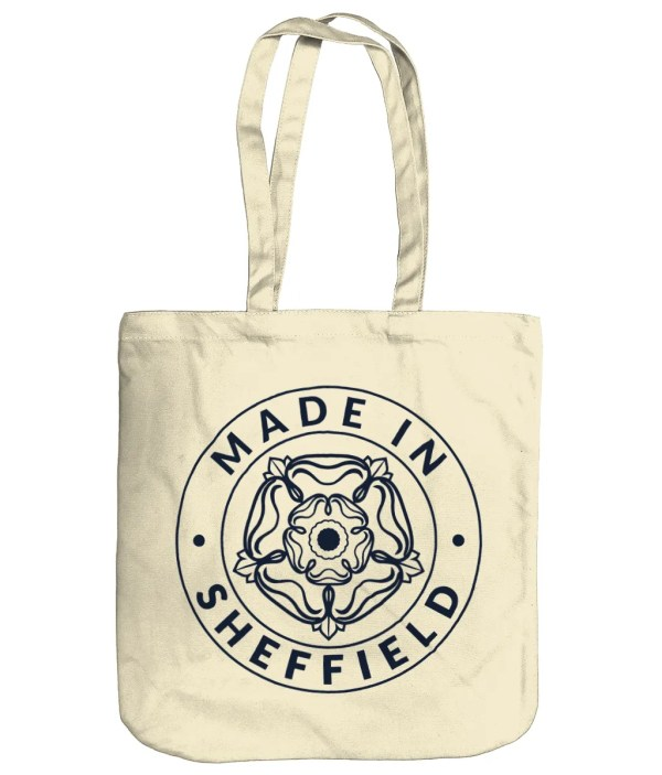 Made in Sheffield Organic Tote Bag, Natural