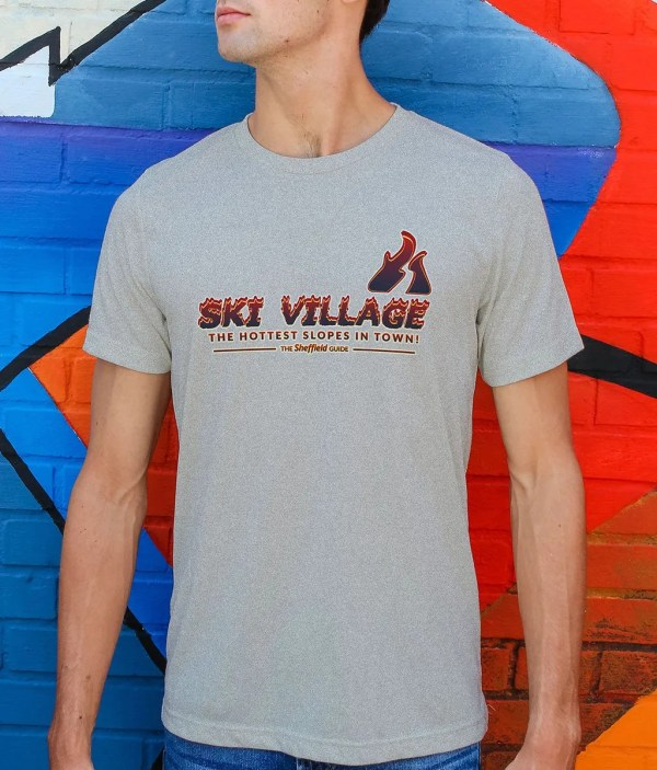 Ski Village: The Hottest Slopes in Town Organic T-Shirt, Heather Grey