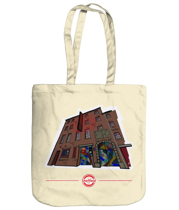The Leadmill Sheffield Organic Tote Bag (Art by James), Natural