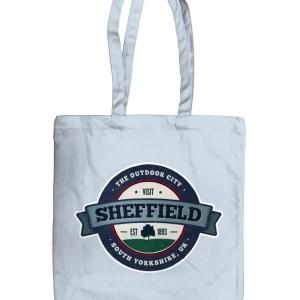 Visit Sheffield Organic Tote Bag, Pastel Blue