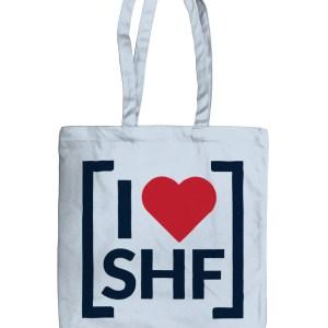 I LOVE SHEFFIELD [SHF] Organic Tote Bag, Pastel Blue