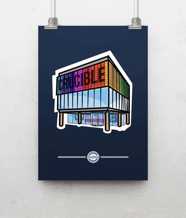 Crucible Theatre Sheffield Poster Print — Art by James