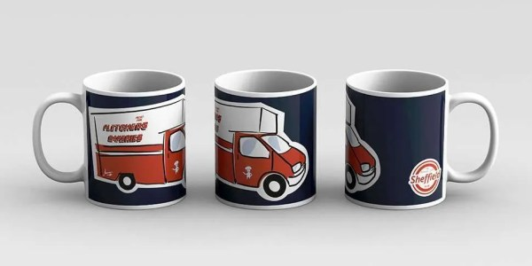 Fletchers Van Sheffield Mug — Art by James