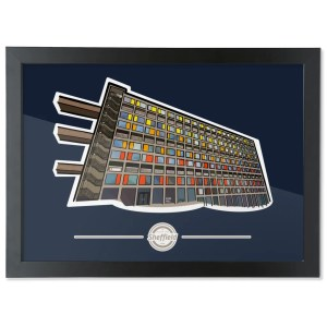 Park Hill Flats Sheffield Framed Art Print (Landscape)