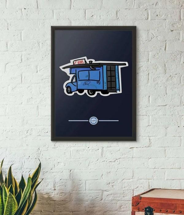 Greasy Vera's Sheffield Framed Print — Art by James