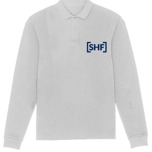 [SHF] Long Sleeve Polo Shirt Size Chart, Heather Grey