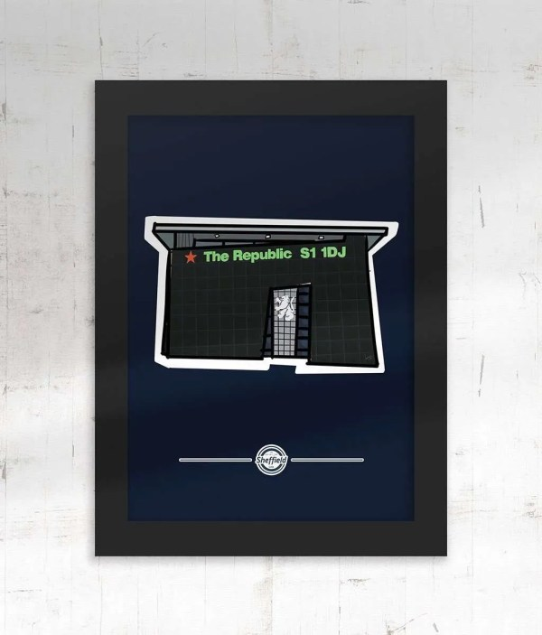 The Republic Sheffield Framed Poster Print — Art by James