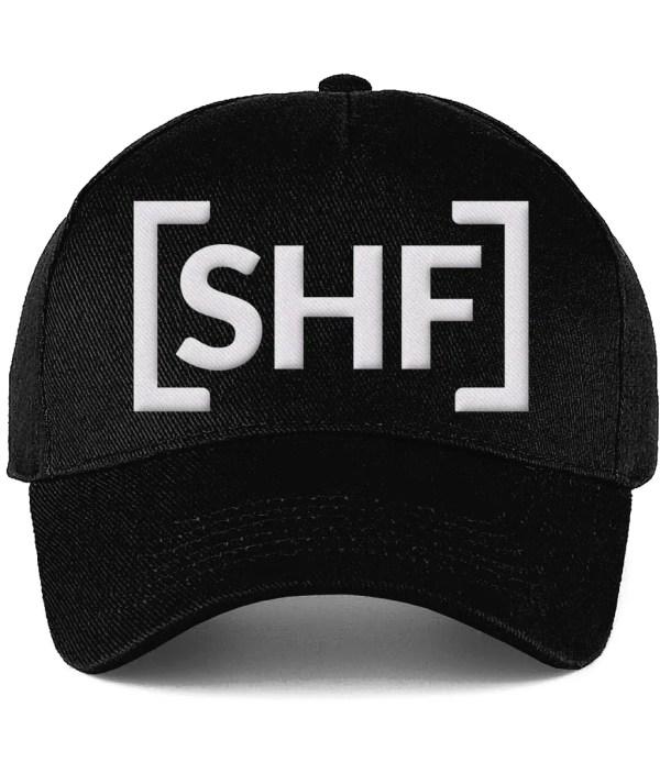 [SHF] Motif Raised Embroidery Ultimate Cotton Cap, Black
