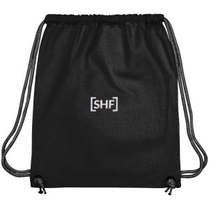 [SHF] Motif Embroidered Gym Bag, Black