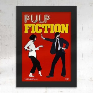 Pulp Fiction (Jarvis Cocker) Framed Print — Art by James