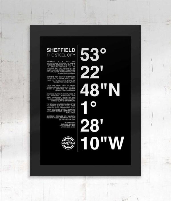 Sheffield Coordinates Framed Print