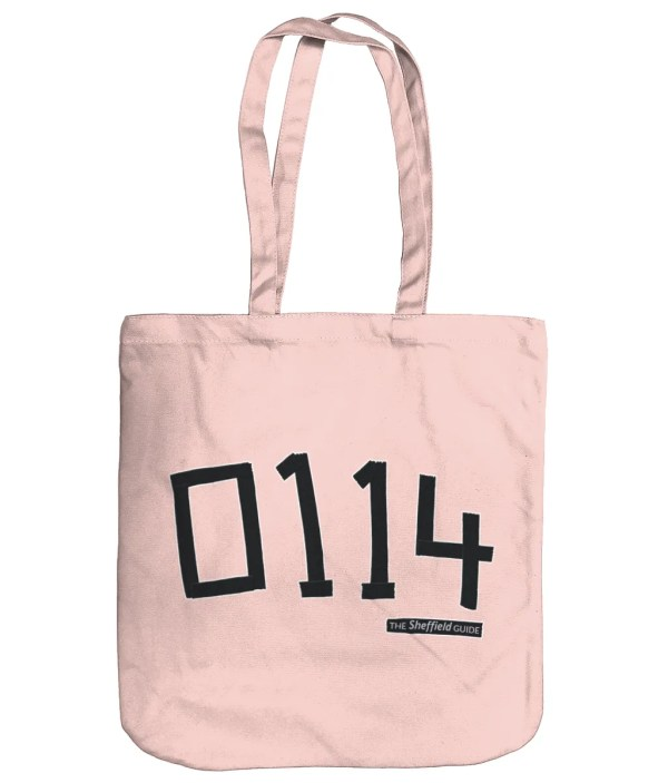 0114 Sheffield Organic Tote Bag, Pastel Pink