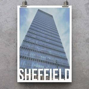 The Arts Tower Sheffield Destination Poster Art Print