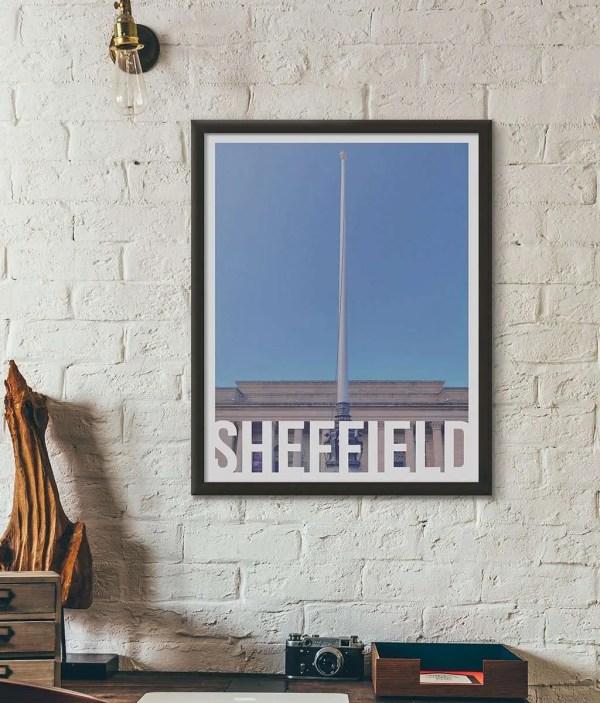 Barkers Pool (Sheffield City Hall) Sheffield Destination Framed Print