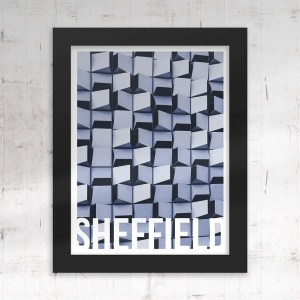 Cheese Grater Sheffield Framed Print